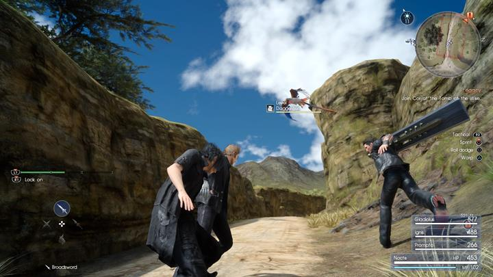 Teleportation will quickly neutralize the flying beasts - Chapter 2 - No Turning Back | Main storyline - Main storyline - Final Fantasy XV Game Guide