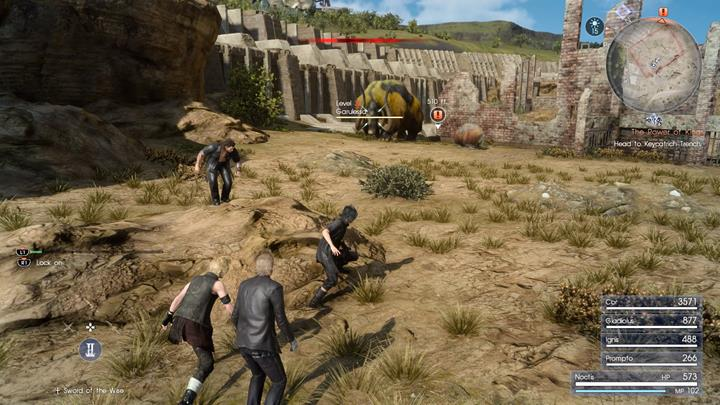 With the help of Cor and the rest of the team, it is worth hunting some of the higher level enemies in the vicinity - Chapter 2 - No Turning Back | Main storyline - Main storyline - Final Fantasy XV Game Guide