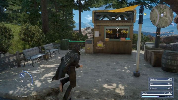 The NPC located in the booth is the one youre looking for. - Chocobo races in Final Fantasy XV - FAQ - Frequently Asked Questions - Final Fantasy XV Game Guide