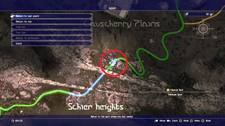 The location on the map... - How to get Moogle Charm (+20% EXP)? - FAQ - Frequently Asked Questions - Final Fantasy XV Game Guide