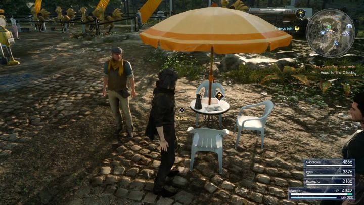 The quest can be started by interacting with the book lying on the table. - How to unlock Stacked Ham Sandwich (+50% EXP)? - FAQ - Frequently Asked Questions - Final Fantasy XV Game Guide