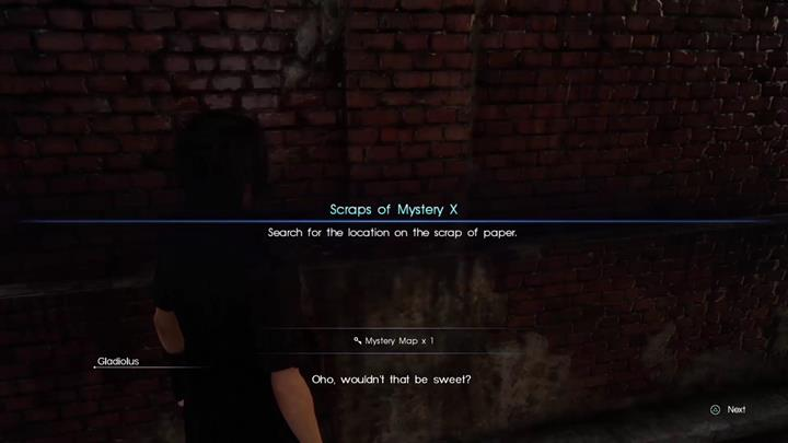 You need to get close to the scrap. - Scraps of Mystery | Side quests - Side quests - Final Fantasy XV Game Guide