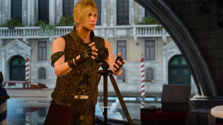 While in some unique places, Prompto will ask Noctis if the team can take a group photo - Photo Ops | Side quests - Side quests - Final Fantasy XV Game Guide