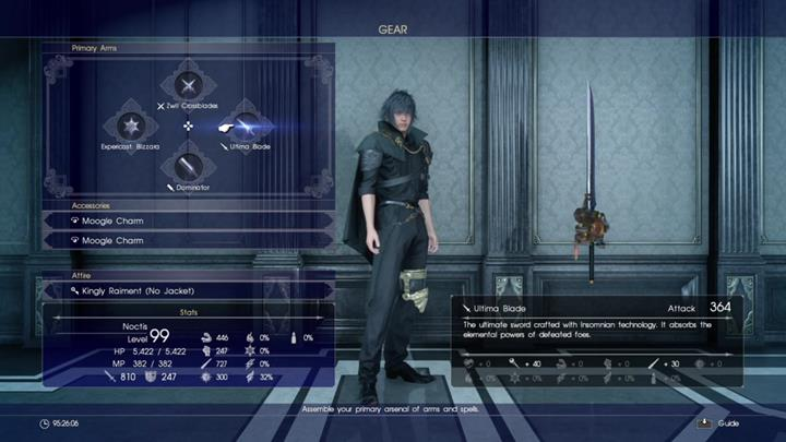 You can unlock Ultima Blade by fully upgrading Engine Blade. - Cid - weapon upgrades | Side quests - Side quests - Final Fantasy XV Game Guide