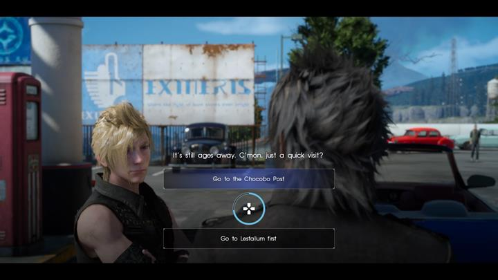 Its worth it to unlock Chocobo - those will serve the role of mounts for the whole party. - Chapter 3 - The Open World | Main storyline - Main storyline - Final Fantasy XV Game Guide