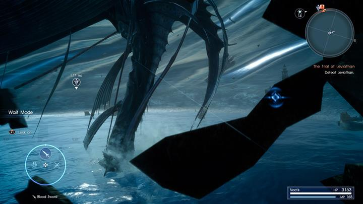Avoid enemy attacks, warp between points and attack Leviathan. - Chapter 9 - Callings | Main storyline - Main storyline - Final Fantasy XV Game Guide