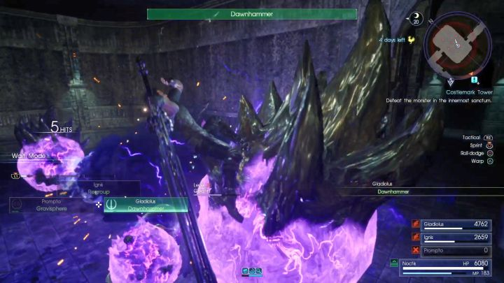 Galvanides are probably the most dangerous enemies in this dungeon. - Costlemark Tower | Optional dungeons - Optional dungeons - Final Fantasy XV Game Guide