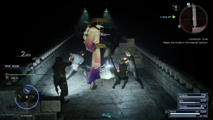 An encounter with Yojimbo and other monsters on a narrow bridge isnt a pleasurable one. - Costlemark Tower | Optional dungeons - Optional dungeons - Final Fantasy XV Game Guide