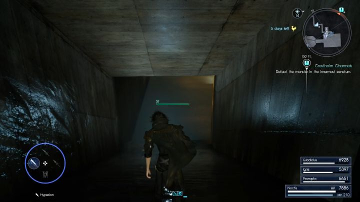 The tunnel leading to the boss. - Crestholm Channels | Optional dungeons - Optional dungeons - Final Fantasy XV Game Guide