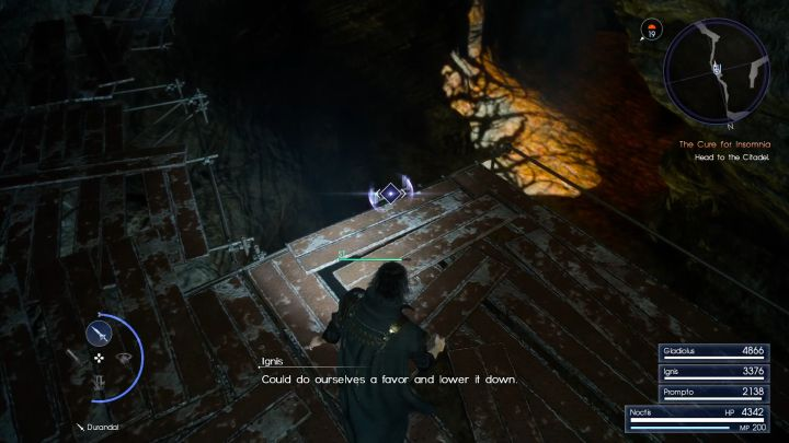 Dont forget to lower the ladder. - Daurell Caverns | Optional dungeons - Optional dungeons - Final Fantasy XV Game Guide