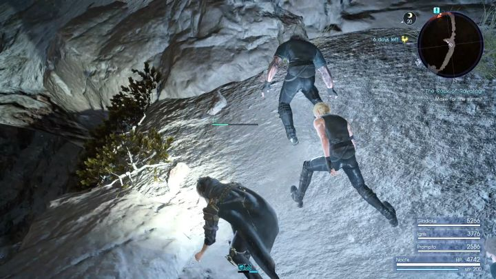 Move to the small ledges on the sides to regenerate Noctis stamina. - Rock of Ravatogh | Optional dungeons - Optional dungeons - Final Fantasy XV Game Guide