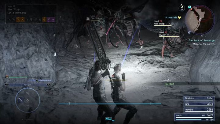 Killer Wasps and Wyverns - an immensely irritating combination. - Rock of Ravatogh | Optional dungeons - Optional dungeons - Final Fantasy XV Game Guide