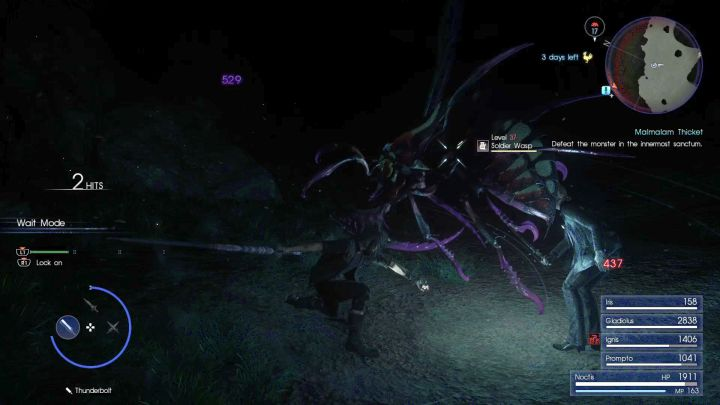 Oversized wasps (Solder Wasps in this case) are one of the most irritating enemies in the game. - Malmalam Thicket | Optional dungeons - Optional dungeons - Final Fantasy XV Game Guide