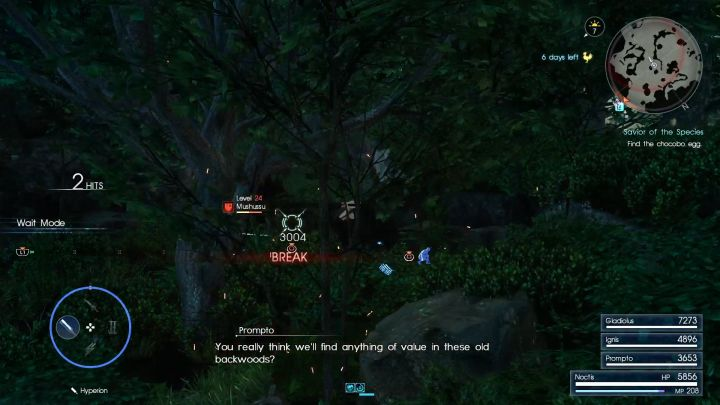 Mushussu isnt an opponent youll have problems defeating. - Myrlwood Forest | Optional dungeons - Optional dungeons - Final Fantasy XV Game Guide