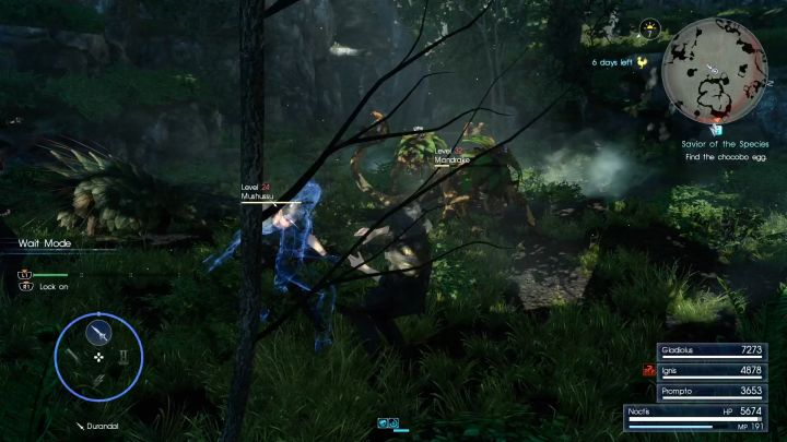 Mandrakes can inflict irritating Mollified and Confused effects. - Myrlwood Forest | Optional dungeons - Optional dungeons - Final Fantasy XV Game Guide