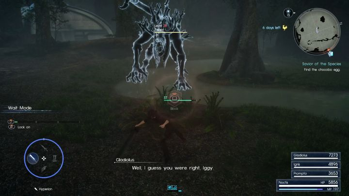 The boss of the dungeon, Treant, isnt that dangerous as well. - Myrlwood Forest | Optional dungeons - Optional dungeons - Final Fantasy XV Game Guide