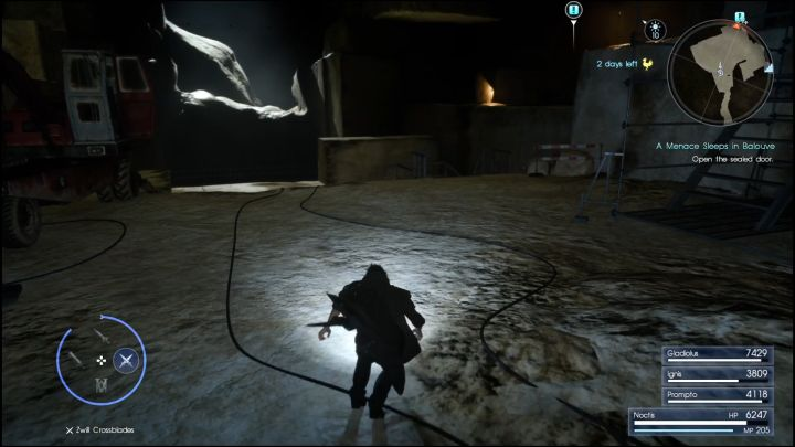 You will be fighting the boss in this room. - Balouve Mines | Optional dungeons - Optional dungeons - Final Fantasy XV Game Guide