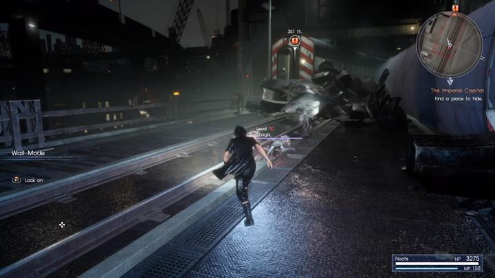 Run towards the train car and avoid daemons. - Chapter 13 - Redemption | Main storyline - Main storyline - Final Fantasy XV Game Guide