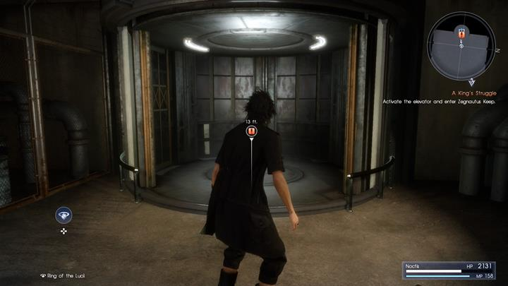 After a short walk you will reach an elevator from which a group of enemies will emerge - Chapter 13 - Redemption | Main storyline - Main storyline - Final Fantasy XV Game Guide