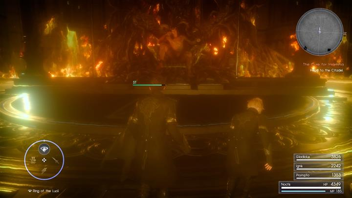 Use warp-strike to damage Ifrit. - Chapter 14 - Homecoming | Main storyline - Main storyline - Final Fantasy XV Game Guide