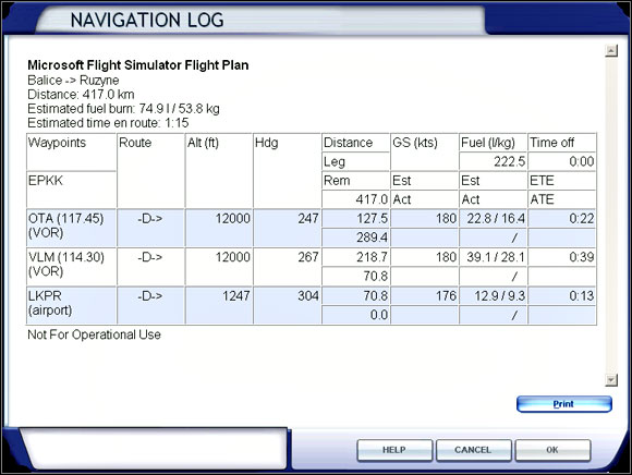 Cruise | e g  flight: Mooney Bravo - Flight Simulator X Game Guide