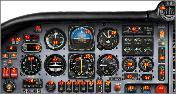 Main panel. - Cockpit - Exemplary flight: Mooney Bravo - Flight Simulator X - Game Guide and Walkthrough