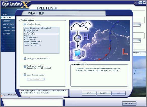 Weather and fuel | e g  flight: Boeing 737-800 - Flight Simulator X