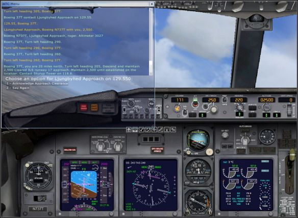 Landing   e g  flight: Boeing 737-800 - Flight Simulator X