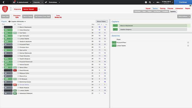 Choosing a captain | Tactics - Football Manager 2014 Game