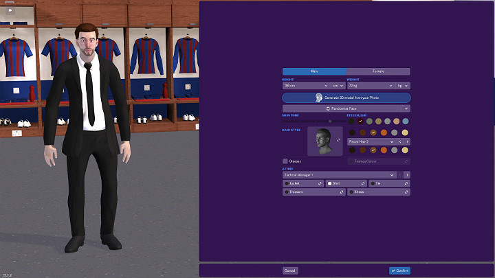 The first and very important thing when you turn Football Manager 2019 on is to create a manager profile - First steps in career of Football Manager 2019 - Good start - Football Manager 2019 Guide and Tips
