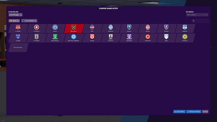 The next step at the beginning of your career in Football Manager 2019 is the selection of league games - First steps in career of Football Manager 2019 - Good start - Football Manager 2019 Guide and Tips