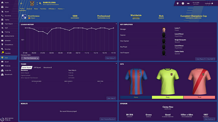 After choosing a league, it will be the time to find the team that suits you best - First steps in career of Football Manager 2019 - Good start - Football Manager 2019 Guide and Tips