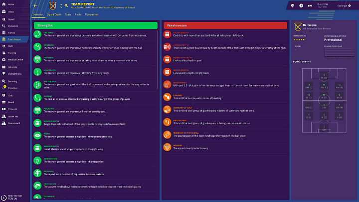 Once youve accepted the position of a manager in a club, its worth spending some time getting to know the clubs history, preferred style of play, goals to achieve, strengths and weaknesses, and so on - First steps in career of Football Manager 2019 - Good start - Football Manager 2019 Guide and Tips