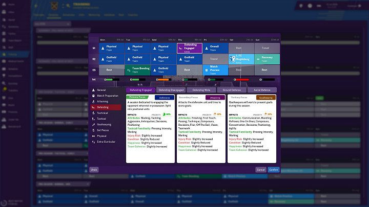 This is important because when choosing a particular type of training, you choose between offensive and defensive aspects, i - Training in Football Manager 2018 - Club management - Football Manager 2019 Guide and Tips