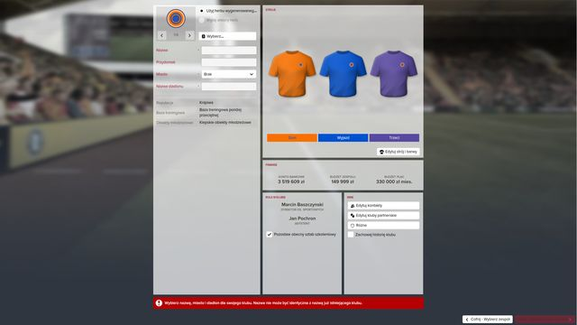 Creation of your own club | Starting the game - Football Manager