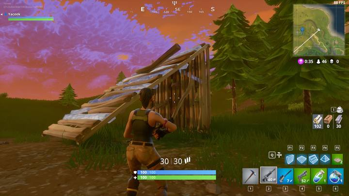 One of the most basic constructions. It can protect you from enemy fire. - Building for advanced players | How to win? - How to play and win? - Fortnite: Battle Royale Game Guide