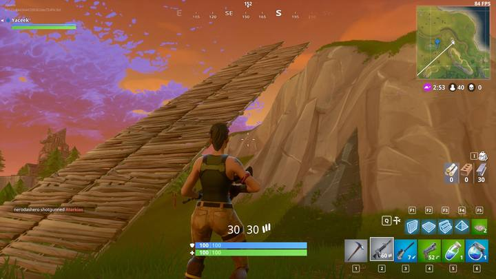 Sprint and build stairs on both sides to go above enemy positions fast. - Building for advanced players | How to win? - How to play and win? - Fortnite: Battle Royale Game Guide