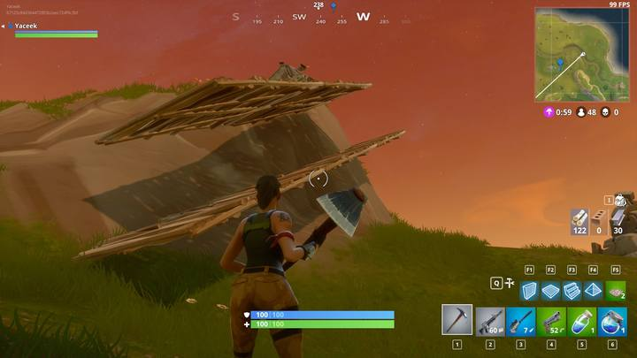 Double stairs guarantee you safety while storming a hill. - Building for advanced players | How to win? - How to play and win? - Fortnite: Battle Royale Game Guide