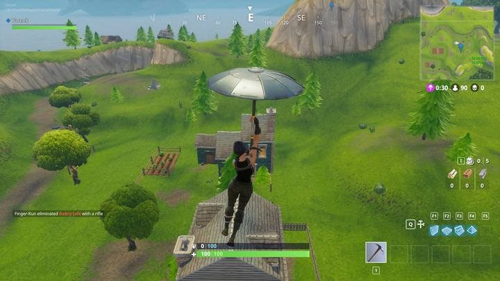 Selection of the landing spot. - Basic tips - How to start in Fortnite: Battle Royale? - Beginners Guide - Fortnite: Battle Royale Game Guide