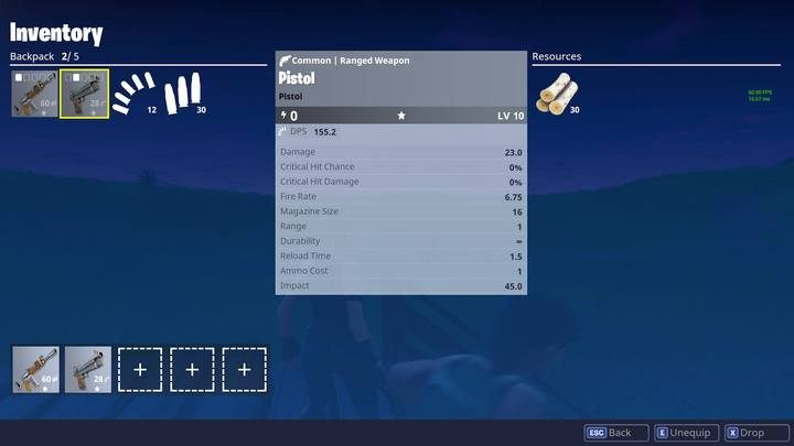 Pistol is one of the weakest weapons in the game. - Pistols and Submachine guns | Weapons and items - Weapons and items - Fortnite: Battle Royale Game Guide
