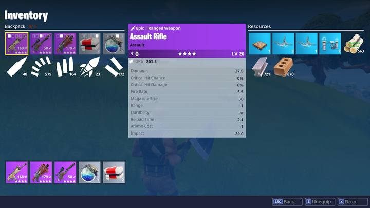 Assault rifle is the most vital weapon. - Assault rifles, sniper rifles and DMRs | Weapons and items - Weapons and items - Fortnite: Battle Royale Game Guide