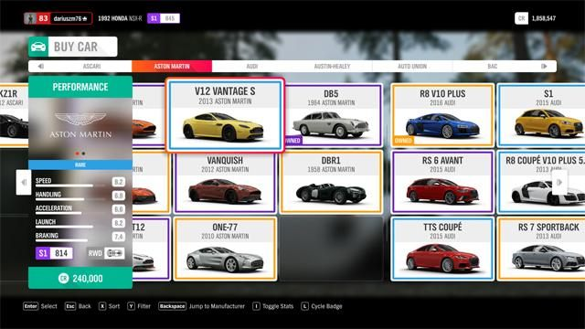 Buying and selling cars in Forza Horizon 4 - Forza Horizon 4 Game