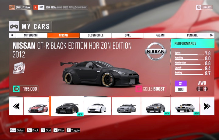 preliminary information car list forza horizon 3 game guide. Black Bedroom Furniture Sets. Home Design Ideas
