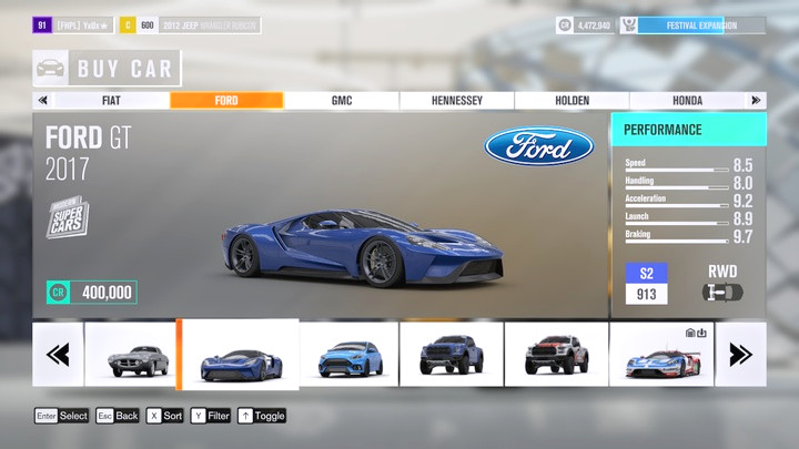buying cars forza horizon 3 game guide. Black Bedroom Furniture Sets. Home Design Ideas