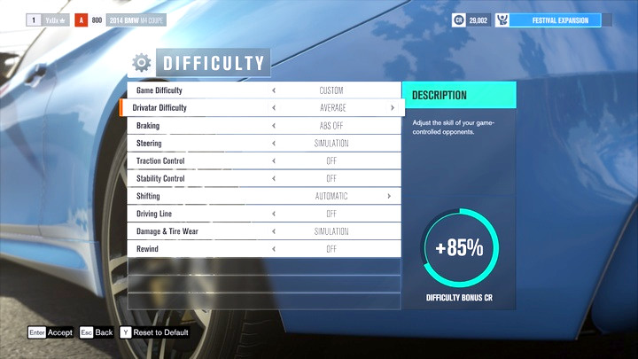 Difficulty Level and Damage - Forza Horizon 3 Game Guide