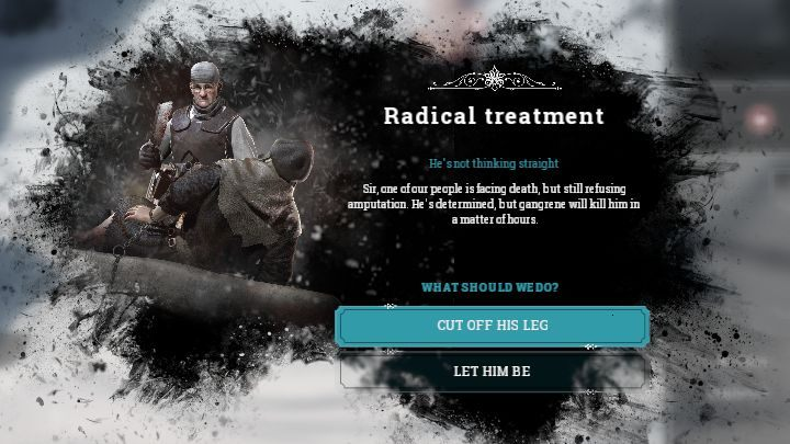 When the radical treatment law is active, you might receive alerts that will force you to decide the fate of a patient. - Dissatisfaction and hope | Basics - Basics - Frostpunk Game Guide