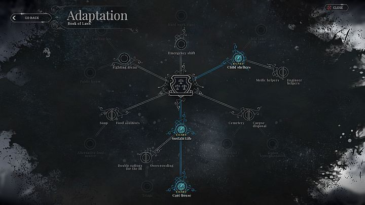 The chapter is expanded; giving you many options how to rule. - The book of laws | Basics - Basics - Frostpunk Game Guide