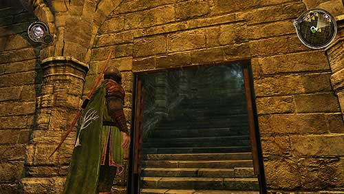 Stop on the landing and use Rhllors Vision to find a secret passage - Crossroads [MQ] - p. 2 - Chapter 10 - Alester Sarwyck - Game of Thrones - Game Guide and Walkthrough
