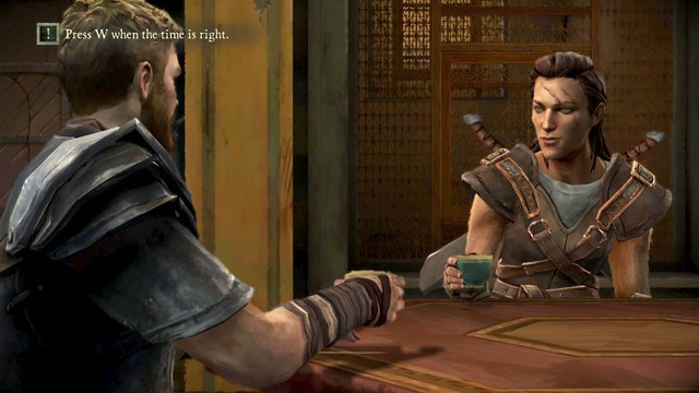 After talking to Beskha you will have to raise a glass - Chapter 1 | Episode 2: The Lost Lords - Episode 2: The Lost Lords - Game of Thrones: A Telltale Games Series Game Guide