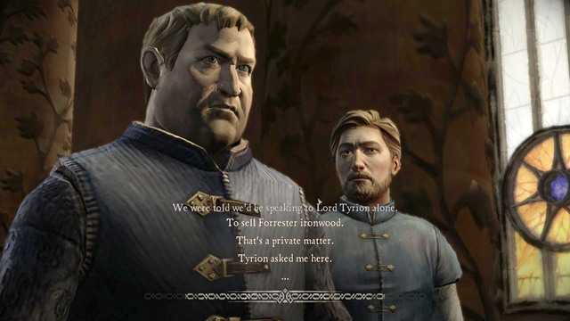 To sell Forrester ironwood / Lord Andros will remember that - Chapter 4 | Episode 2: The Lost Lords - Episode 2: The Lost Lords - Game of Thrones: A Telltale Games Series Game Guide